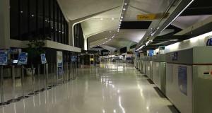 El terminal A del Aeropuerto Internacional de Newark, ahora en proceso de remodelación.