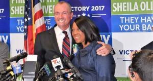 Phil Murphy y Sheila Oliver juntos en la boleta demócrata. (Foto Roberto Bustamante)